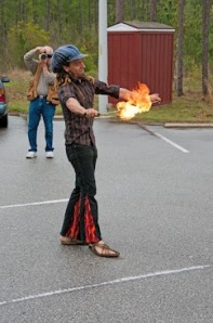 Creative Flame performer